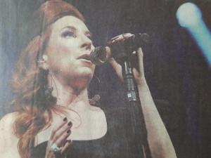 Robin McKelle en concert sur la scène du chapiteau de Jazz in Marciac le samedi 24 juillet 2021.